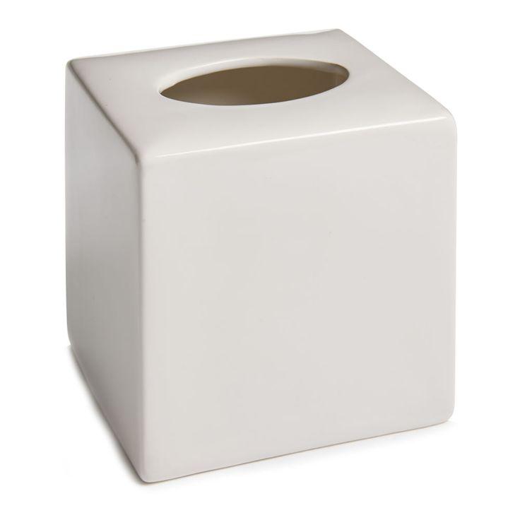 Wilko Ceramic Tissue Box Holder White