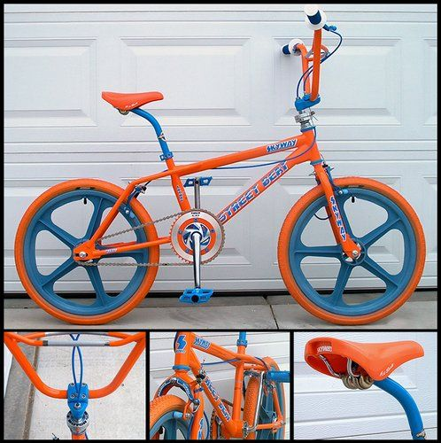I love the colors. 1985 Skyway Street Beat - BMXmuseum.com