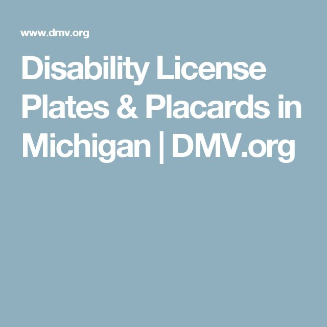 Disability License Plates & Placards in Michigan | DMV.org