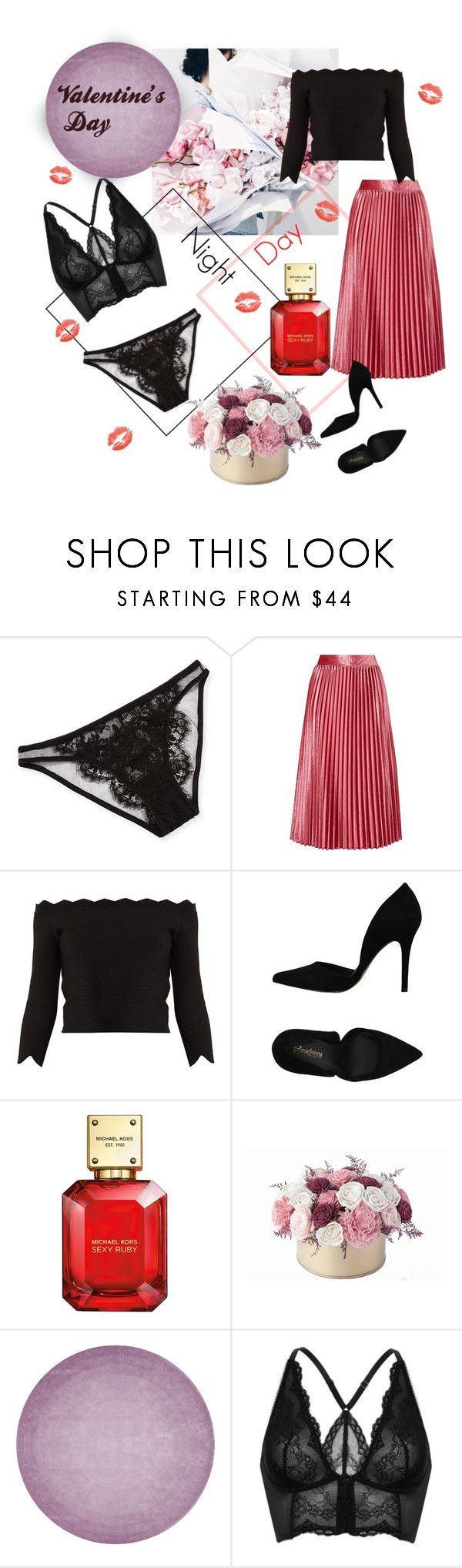 """Valentine's Day 💞💞💞"" by anastasyp ❤ liked on Polyvore featuring Prada, I.D. SARRIERI, Alexander McQueen, PrimaDonna, Michael Kors, By Second Studio, Gossard, love, day and valentine"