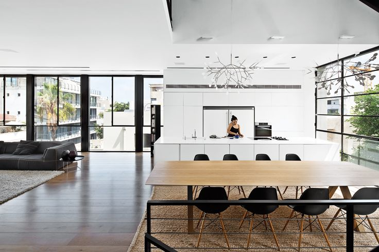 open space, windows, floors,