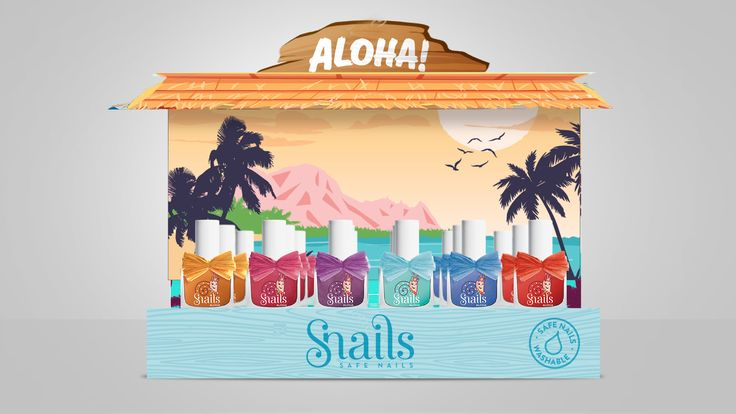 "Summer is just around the corner and Safe 'N' Beautiful is about to present a new collection called Aloha! Inspired by tropical names. This is aimed for girls to enjoy their nails and give them a Summer breeze. With every touch their life will be filled with colour. Waikiki is light Blue, Maui is Pink, Enjoy these summer colours along with Lava, Ukulele,Hula and Waves Aloha polishes which are ""dressed up"" with beautiful raffia bows."