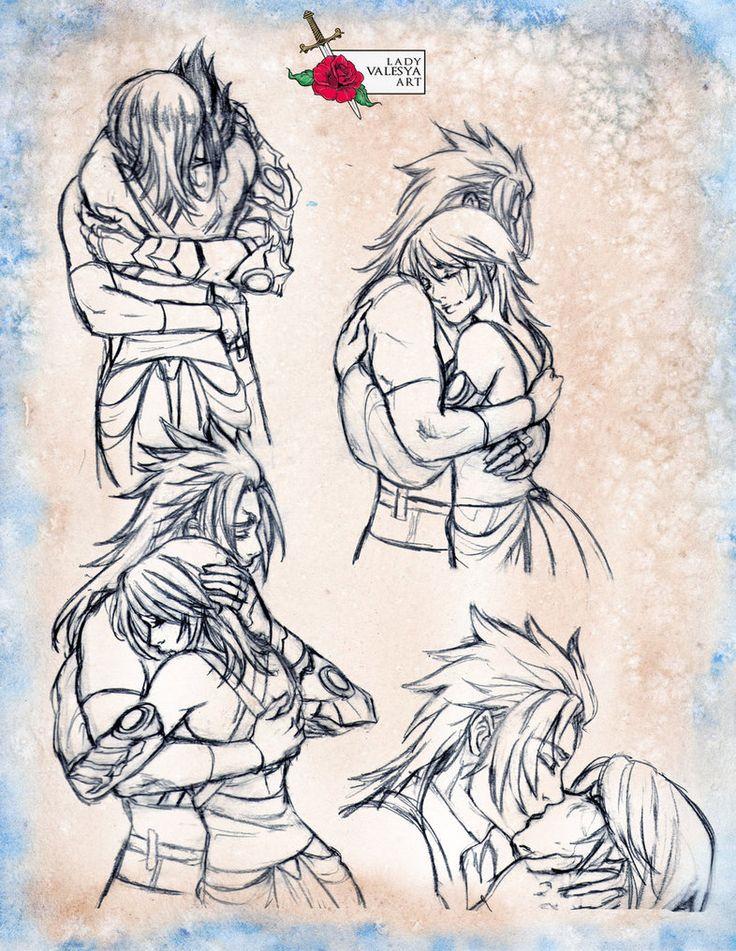 Terra x Aqua sketch page by Lady-Valesya