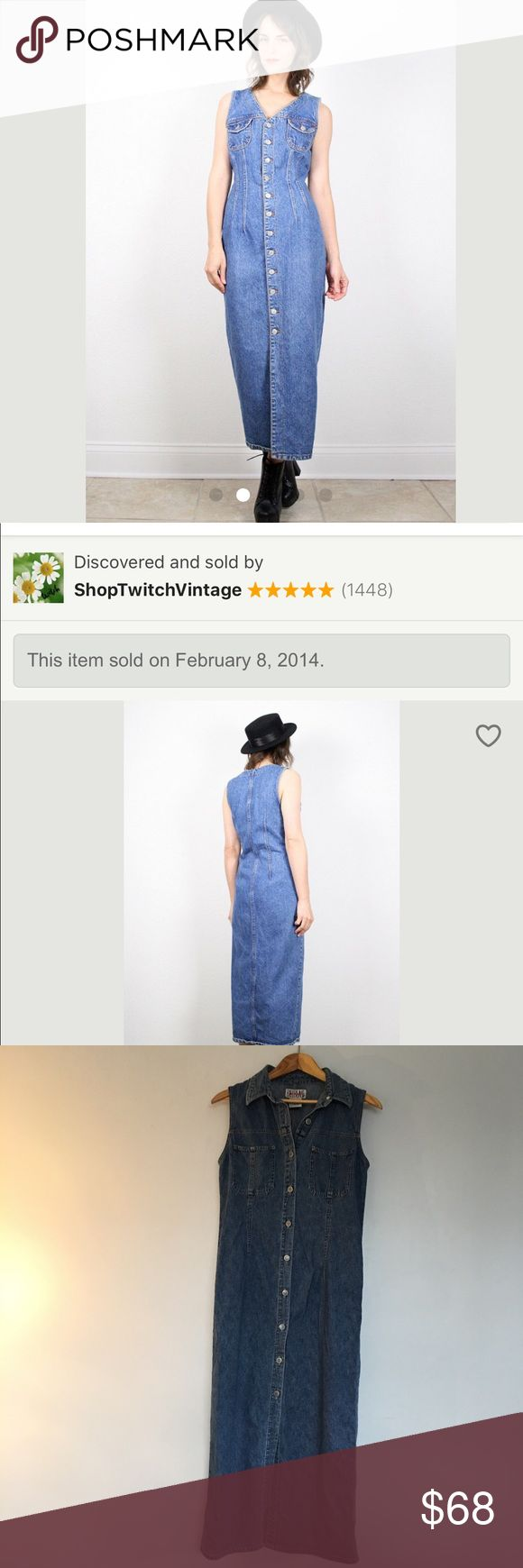 Vintage 90's Bill Blass Button Up Long Denim Dress Vintage 90's Bill Blass Button Up Long Denim Dress. No flaws. Perfect condition.   Approximate Measurements    39 chest  36 Waist 43 Hip 50 Length Bill Blass Dresses Maxi