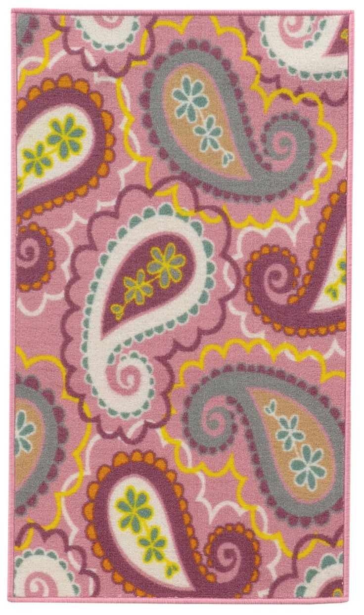 Simple Serendipity Pink Purple Juvenile Children us Rug