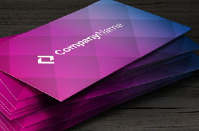 A colorful unique corporate business card template. This modern style business…