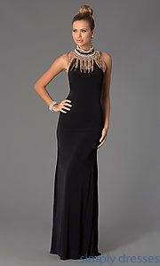 Buy Floor Length Halter JVN by Jovani Dress at SimplyDresses