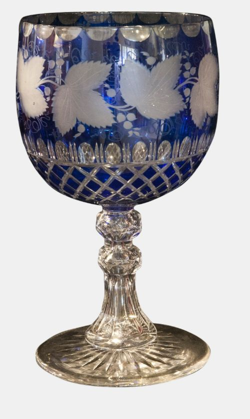 BLUE GLASS GOBLET