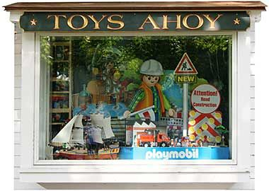 Essex, CT - For more than 30 years, Toys Ahoy! has been in the business of putting smiles on the faces of children of all ages. Choose from products by more than 100 vendors including Melissa & Doug, Folkmanis Puppets, Thomas Wooden Railway, William Britain's toy soldiers and Connecticut's own Wiffle Ball.
