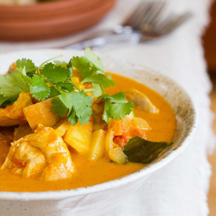 Yellow Chicken Curry with Kaffir Lime and Cucumber