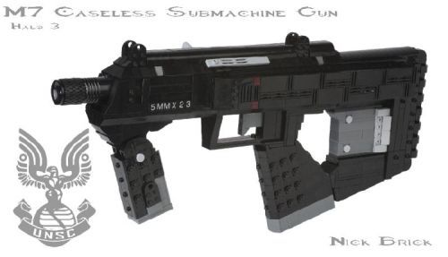 Halo 3 M7 Caseless Submachine Gun V2: A LEGO® creation by Nick Brick #LEGO
