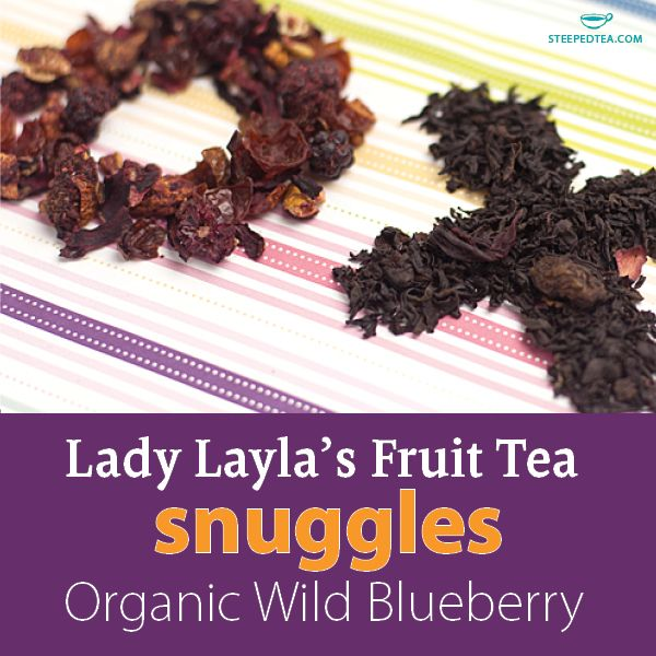 We love hearing what blends our customers create on their own! Today we mixed Lady Layla and Organic Wild Blueberry for a blissfully fruity tea. www.mysteepedtea.com/deborah