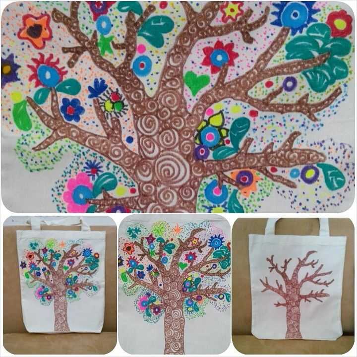 Tree Colors - hand drawing