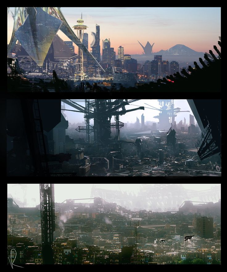 ArtStation - environmental mood concept set , Marcin Rubinkowski