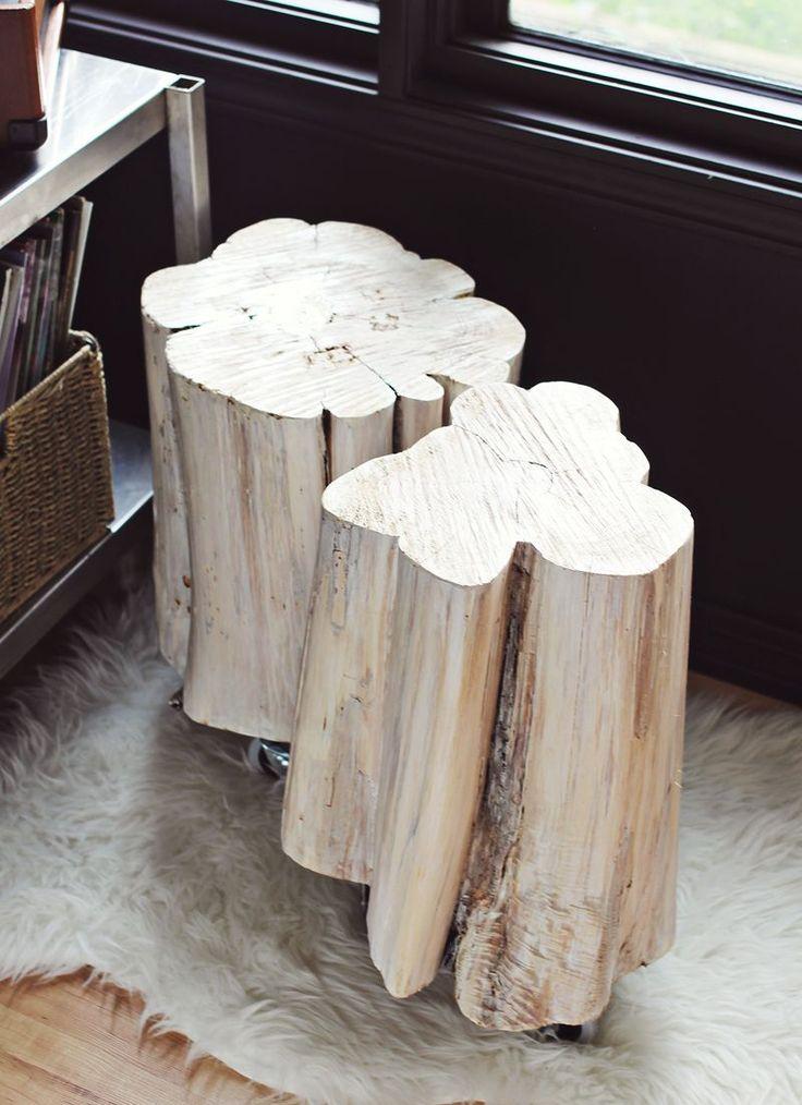 Best HomeLivingFoyer Images On Pinterest Homes Home And - White stump side table