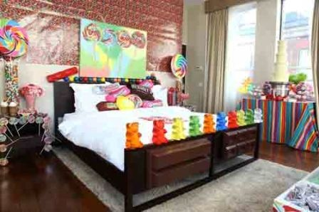 Candy themed room