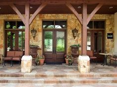 hillcountry front porches | Texas Hill Country porch