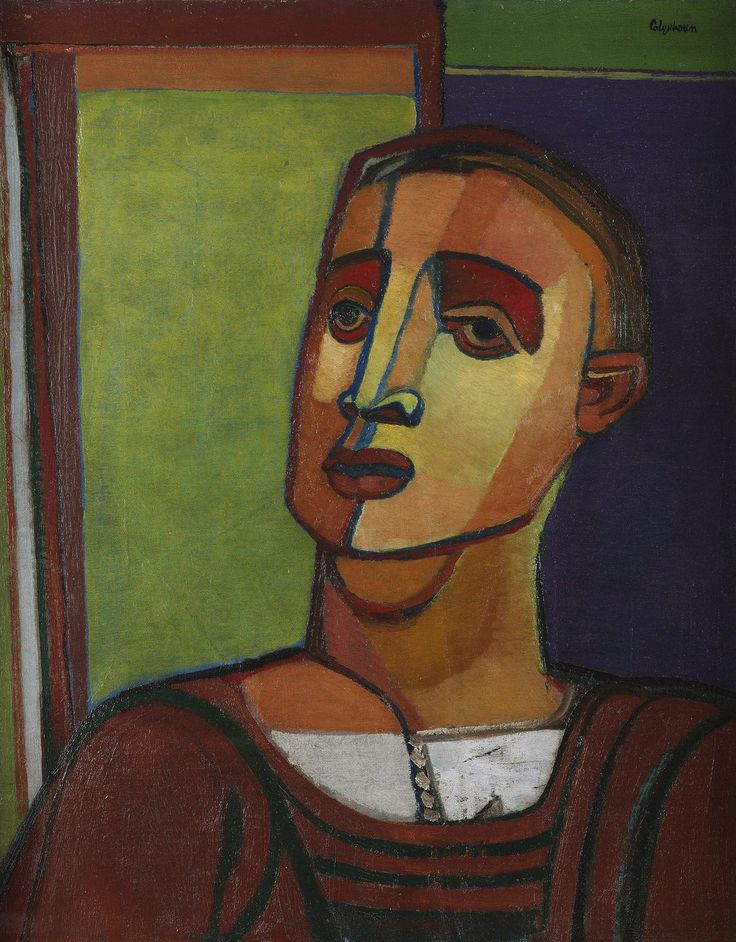 Robert Colquhoun (Scottish, 1914-1962), Portrait of a young man, c.1947. Oil on canvas, 61.5 x 48.5 cm.