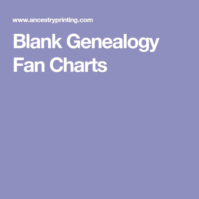 Blank Genealogy Fan Charts