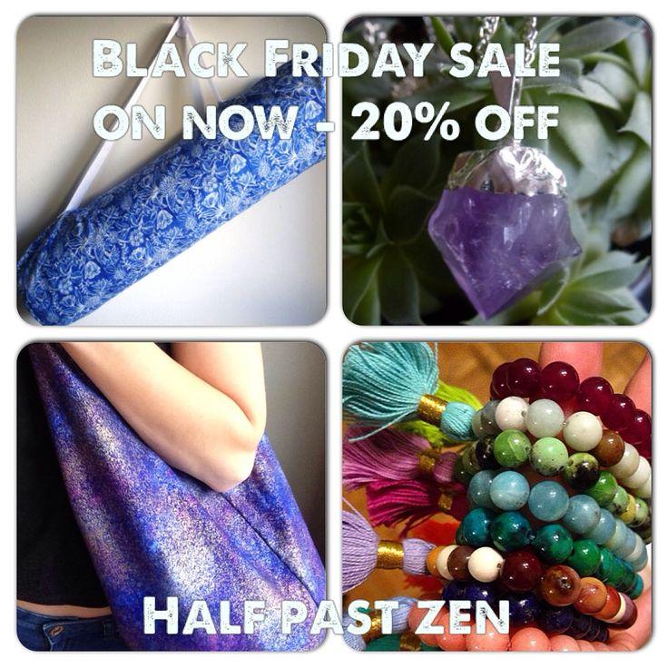BLACK FRIDAY SALE - 20% off all items at the shop! etsy.com/ca/shop/halfpastzen