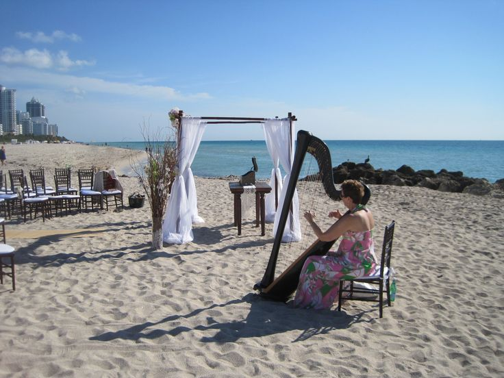 A Wedding On Miami Beach In South Florida With The Elegant Harp What