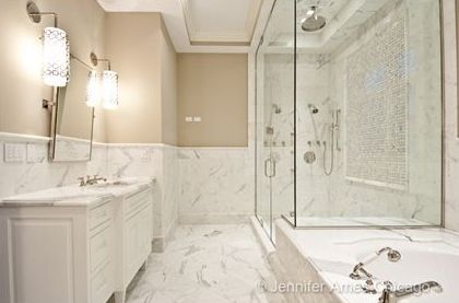 Marble Showers Shower Drop In Tub Calcutta Marble