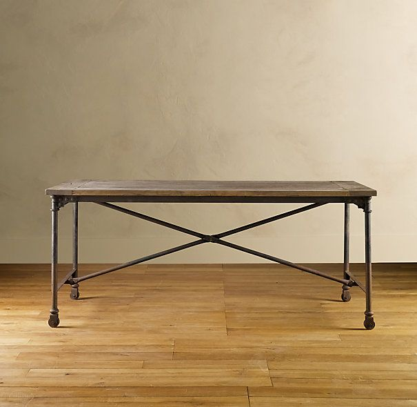 simple, inexpensive and timeless dining room table. would work in industrial and rustic settings.