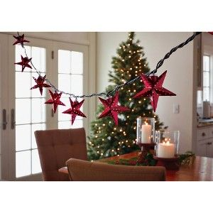 Smith & Hawken Red Star String Lights (10ct) : Target Mobile Holiday Pinterest Star ...