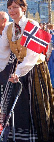 Women's bunad from Troms (gold vest)