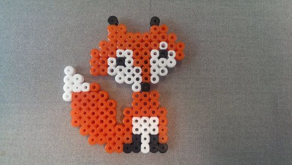 Hama and Perler Bead Fox by FortheloveofJags on Etsy