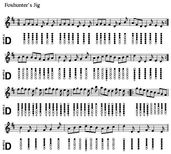 Hallelujah Lyrics And Piano Sheet Music: Foxhunter's Jig