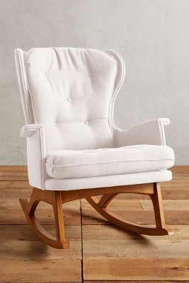 the most gorgeous glider chair for a nursery