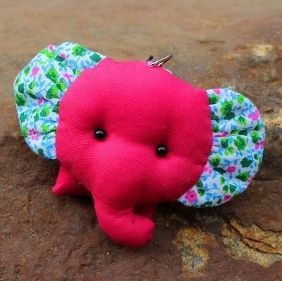 Hand-made elephant doll