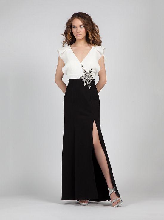 f4490d4f1db Φόρεμα βραδυνό ασπρόμαυρο κλασσικό - Κλασικά Φορέματα | Ό,τι θέλω να ...