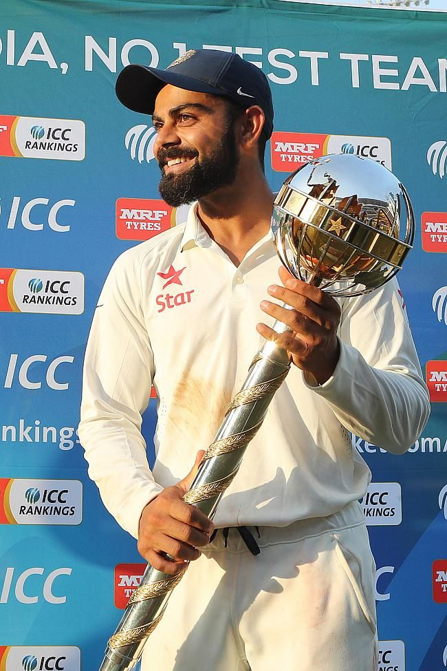 Virat Kohli is elated after receiving the Mace