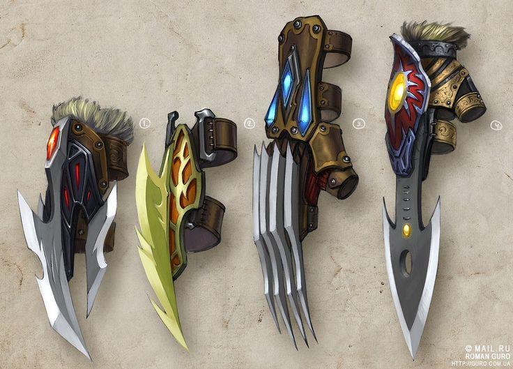 """guro: Concept art: 80 концептов оружия для проекта """"Солнце""""."""