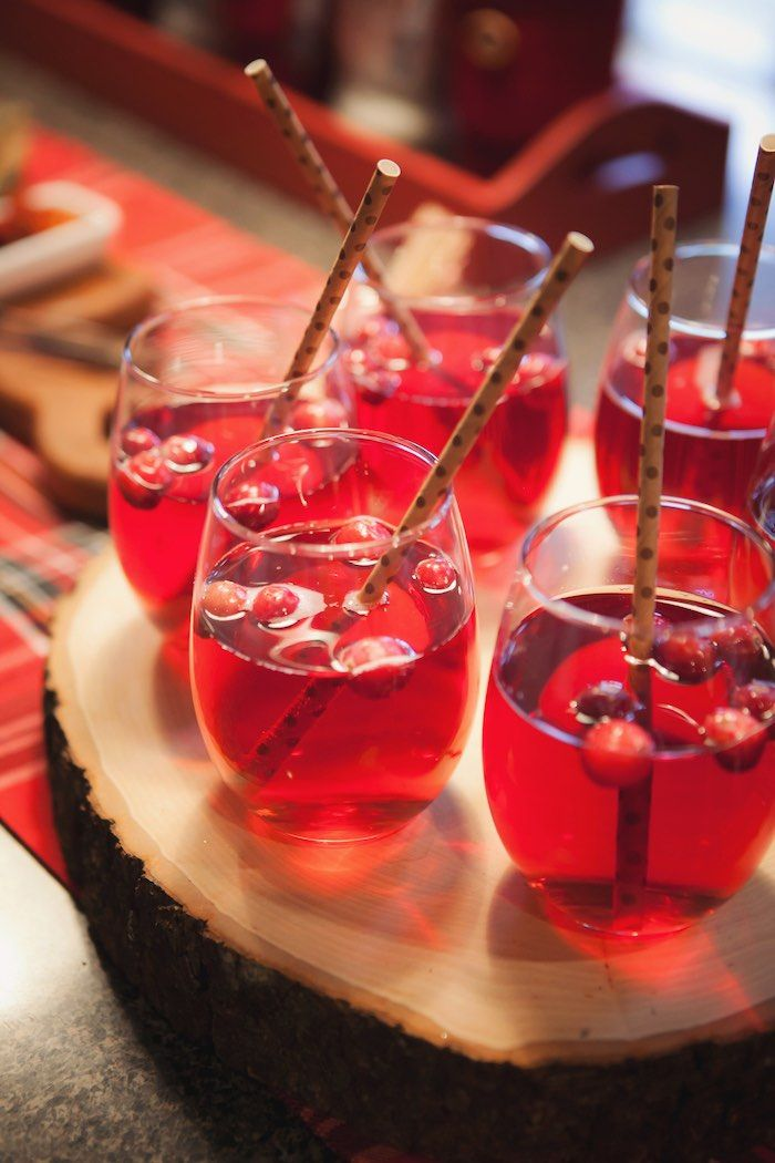 Beautiful Christmas Drinks Party Ideas Part - 5: Holiday Party Drinks From A Cozy Tree Trimming Holiday Party On Karau0027s Party  Ideas | KarasPartyIdeas. Christmas ...