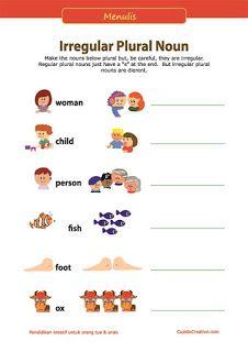 belajar kosakata bahasa inggris untuk anak SD, bentuk tunggal (singular) & jamak (plural)