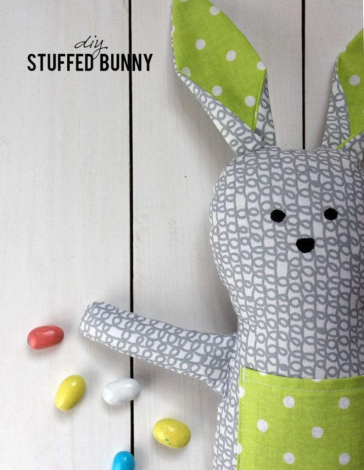 DIY Stuffed Bunny - FREE Sewing Pattern and Tutorial