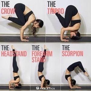 Crow Balance and Head Stand Pose