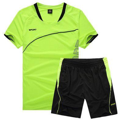 Детские футбольные костюмы мужские начальные и средние школы униформы тренировочные костюмы с короткими рукавами купить пот дышащая быстросохнущая
