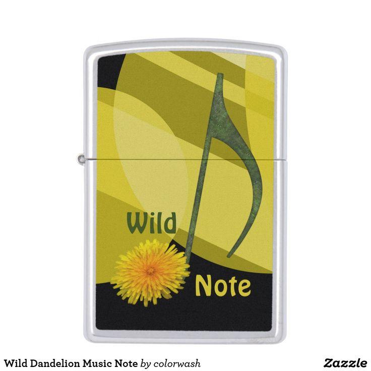 Wild Dandelion Music Note Zippo Lighter