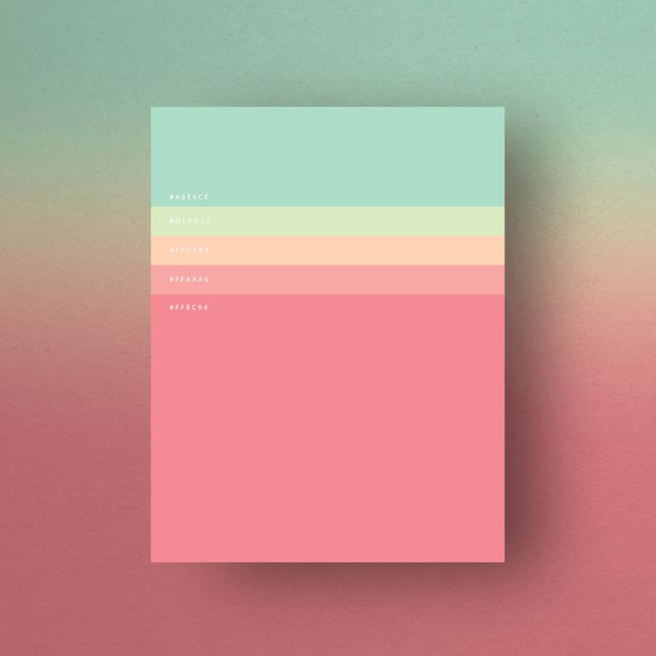 Design crush | Minimalist poster with colour palette