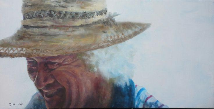 """Ageless wisdom 1"" 50 x 100 cm oil on canvas"
