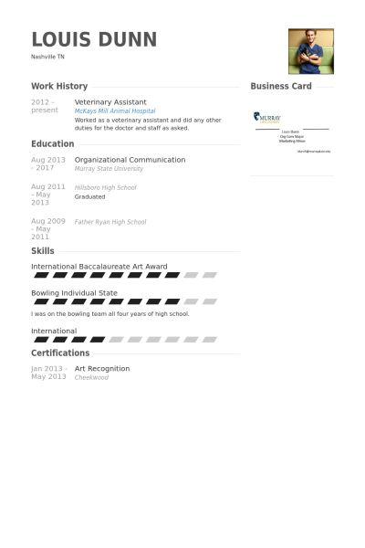 resume examples veterinarian  resume examples resume