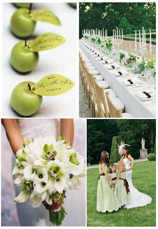 Think about a green and white wedding !   Weddings on the French Riviera