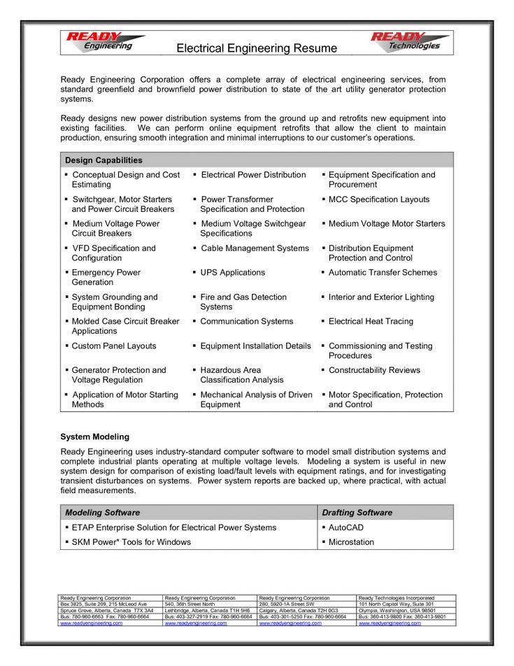 11 Engineer Resume Pdf Format