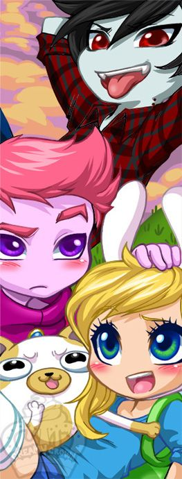 Bookmark: Adventure Time with Fionna and Cake by AjamariesArt.deviantart.com on @DeviantArt