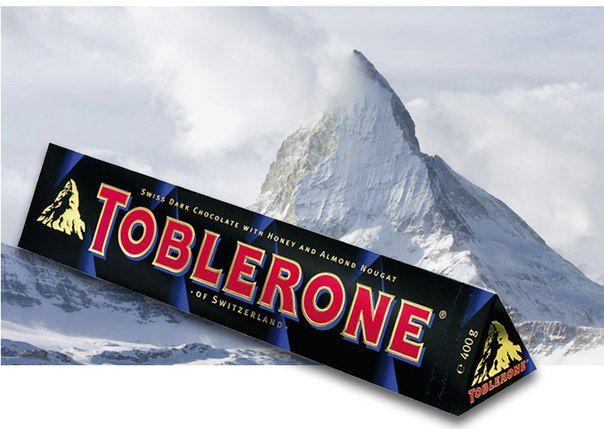 Toblerone (Таблерон, 100г) черный с нугой. В наличии 4 вкуса. Цена на сайте ChocoShop.com.ua
