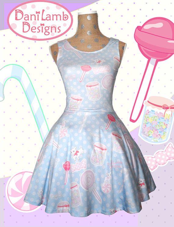 Candy Dress IN STOCK Kawaii Fairy Kei Dress by DaniLambDesigns